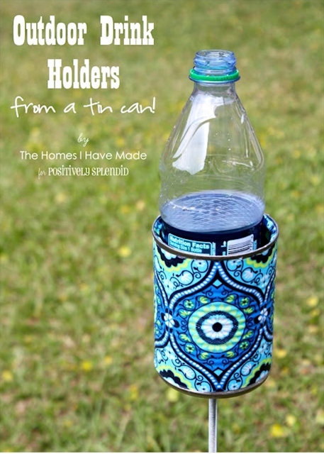 Positively Splendid {Crafts}: Outdoor Drink Holder Tutorial