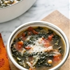 Kale Sausage Soup with Tomatoes and Chickpeas