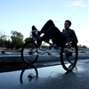 Cricket tricycle by Gaspard and Lucas Tiné-Berès is steered by leaning