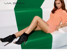 Irina Shayk Shows Off Her Legs in Via Spiga Fall 2014 Ads