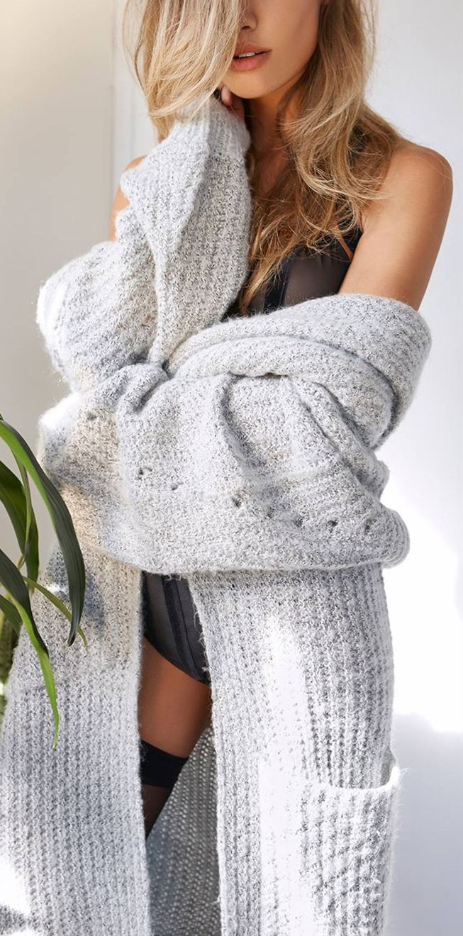 Cozy big sweaters beat robes any day to add warmth and softness over your PJs!!!