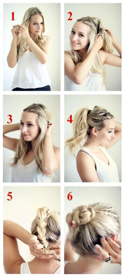 easy but fancy up do with braids. I like how you could stop at step 3, 4, 5 or 6.