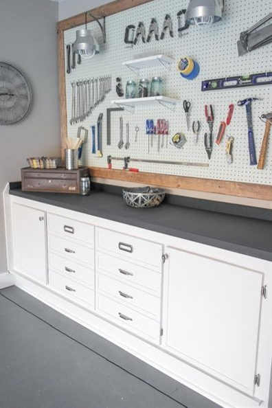 Refresh your garage workspace with these simple organization ideas.