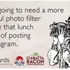You're going to need a more powerful photo filter to make that lunch worthy of posting on Instagram.