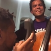 A cellist and a beatboxer met on an airplane and had an impromptu jam session in the sky.