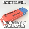The blue part of the eraser… #9gag