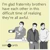 Bros before basic decency.