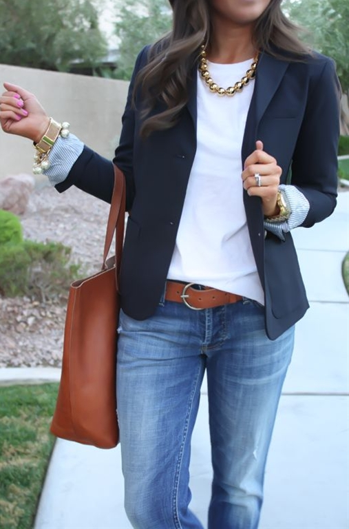 A blazer that fits well is a staple you'll wear for years, until you can't possibly wear it one more time. Blazers are so versatile because you can pair them with literally anything. They give any outfit a more stylish edge that will keep even a white tee and boyfriend jeans from looking too casual and boring. If you're going to splurge on a good blazer, I suggest going for a black one, because you'll most likely get the most wear out of that. And then you can buy cheaper blazers in more colors and prints if you'd like!