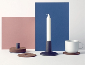Ding3000's Coasterlight holds drink mats beneath a candle
