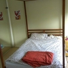 Tarva bed goes four poster bed