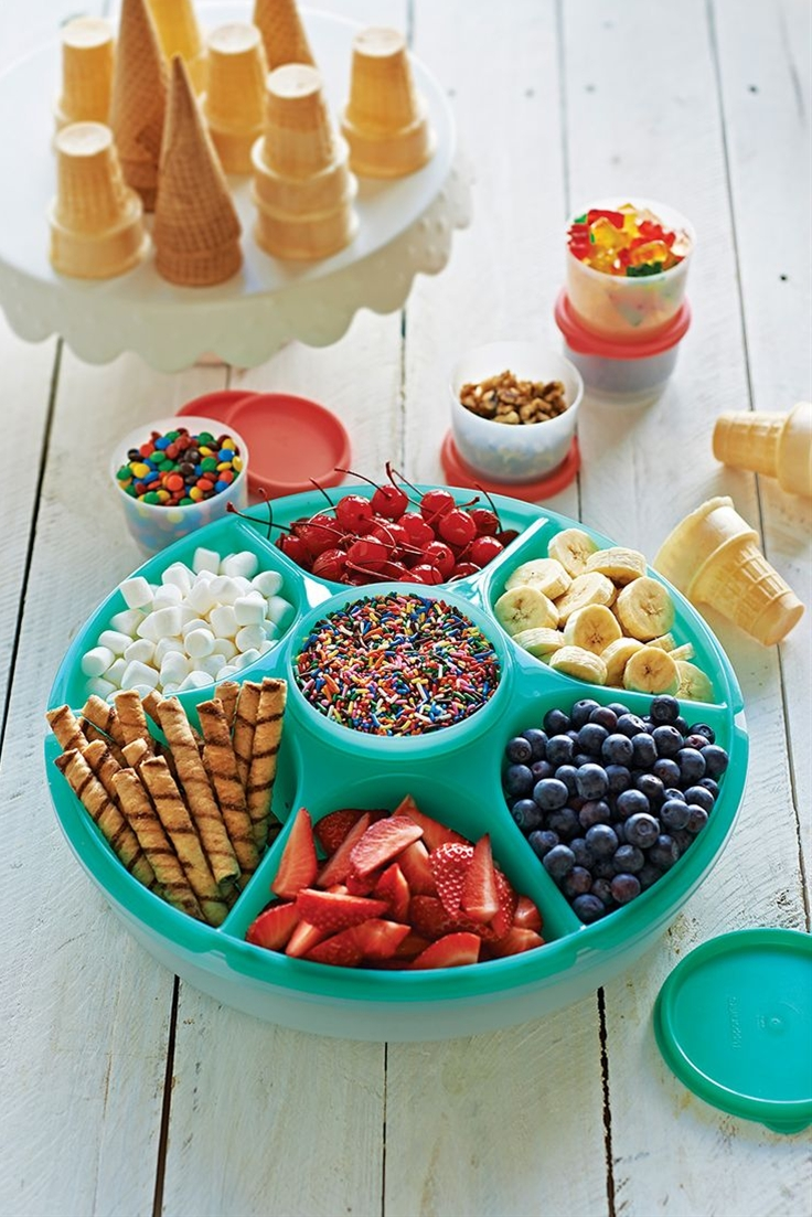 It's time to celebrate National Ice Cream Day this Sunday, July 19th! Throw a fun #DIY Sundae party using our Serving Center Set!