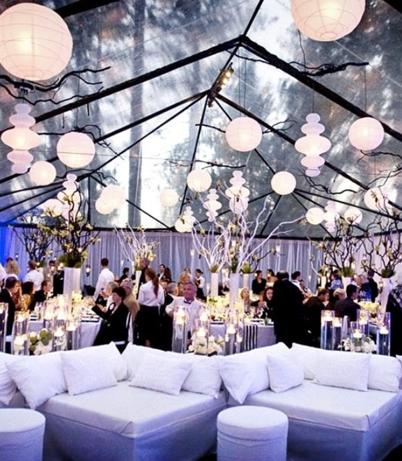 A wedding in a tent can really be as formal or casual as you like, having your wedding under a tent in any outdoor wedding venues gives you total flexibility in all the details that you choose. Wedding Tents come in all shapes, sizes and materials.