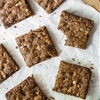 Toffee Cinnamon Oatmeal Cookie Bars (Vegan + Gluten-Free)