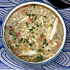 Slow Cooker Leftover Turkey, Lemon, and Cous Cous Soup