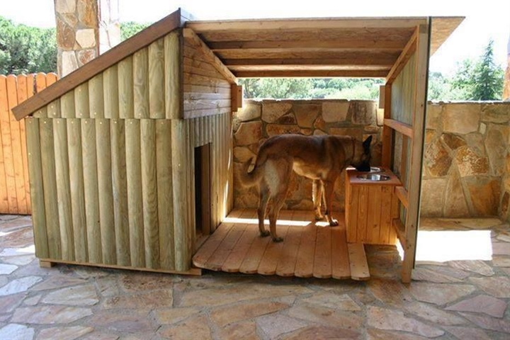 Does your dog love chilling outside? Create a space for him that offers many of the creature comforts of being indoors! Follow steps listed here to build your own.