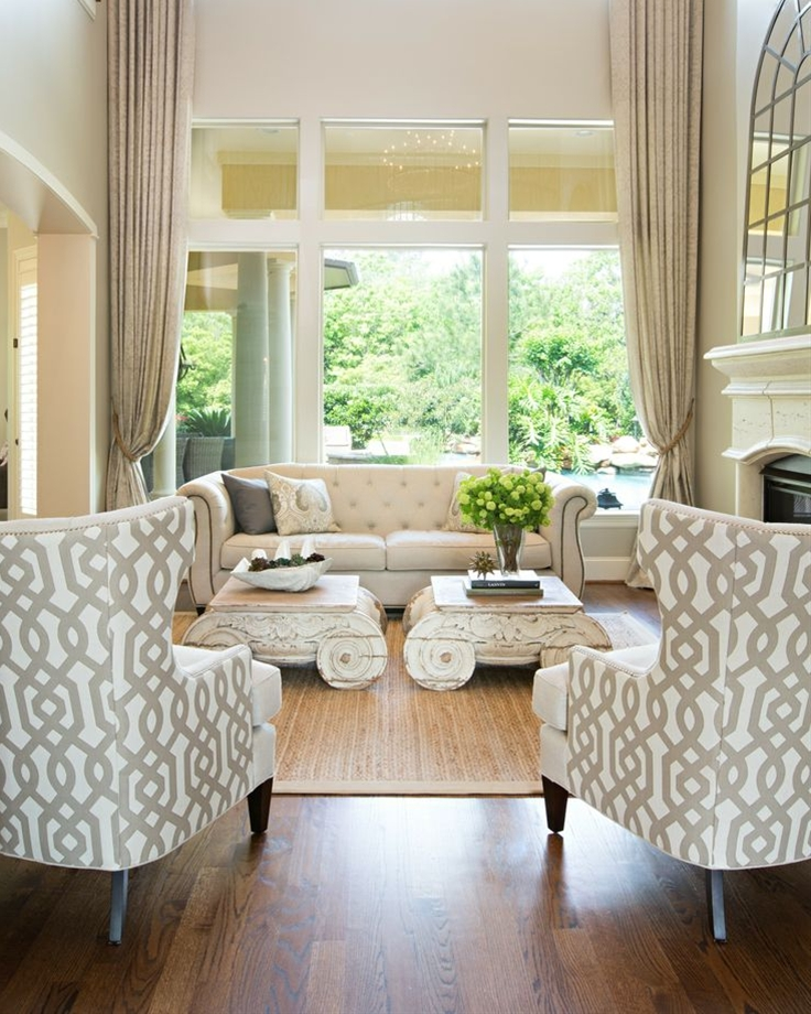 White base colors can consolidate different styles of furniture