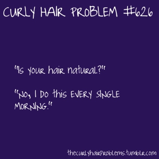 Curly hair problems