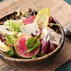 Winter Greens Salad With Flax Seeds, Shaved Beets, and Radishes