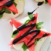 "Watermelon ""Caprese"" with Balsamic Glaze"