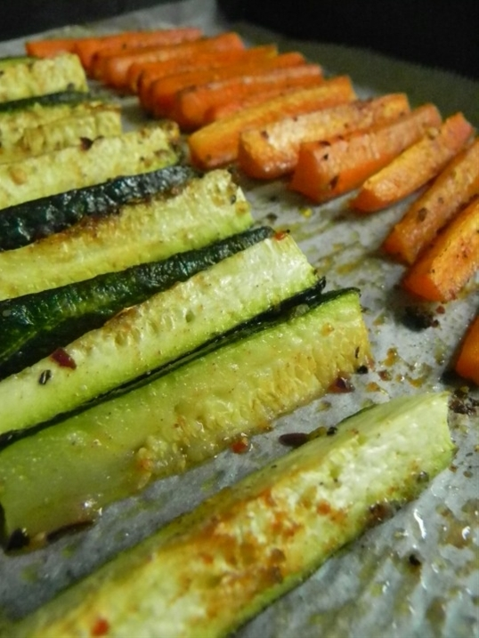 Cooking zucchini and carrots