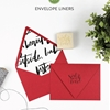 DIY Wrapping Paper Envelope Liners