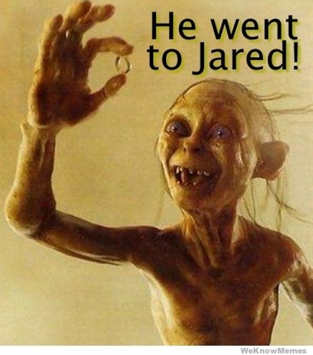 Yes, he did go to Jared for the one ring to bind them.