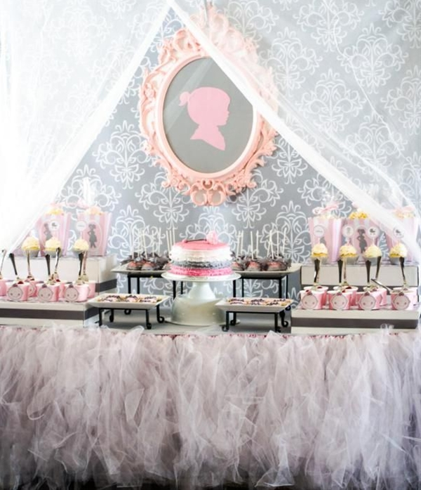 Some of my favorite ideas and elements in this princess baby shower are: