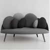 Nubilo sofa by Constance Guisset for Petite Friture offers pebble-shaped cushions for comfort