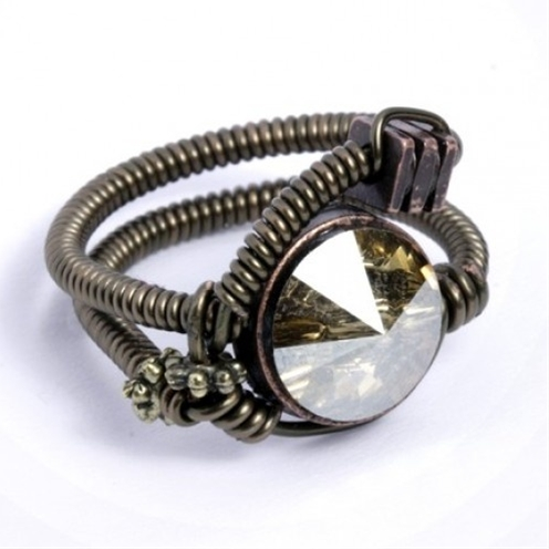 Steampunk wedding ring.