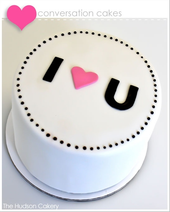love this cake for valentine's day!