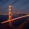 Stars Over San Francisco And the Golden Gate Bridge by Josh Anon