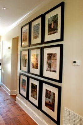 My new philosophy on photo frames:  Go big or go home.  Love this look.