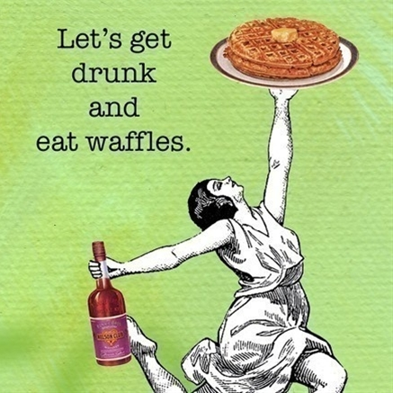 Lets Get Drunk and Eat Waffles  Magnet by franticmeerkat on Etsy, $4.50