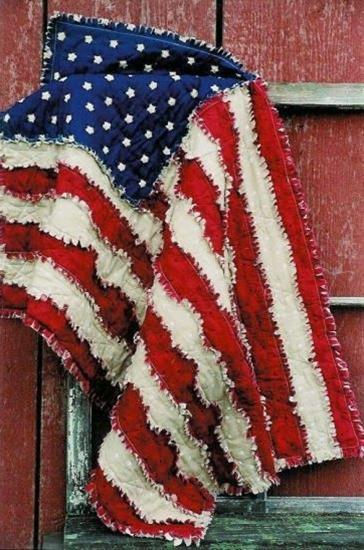 My Cute Idea: American Flag Rag Quilt