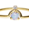 Editor Obsessions: WWAKE's Nestled Opal and Diamond Ring