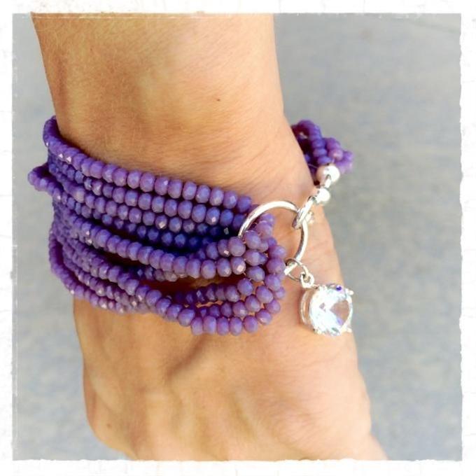 Simple Purple Jade Bracelet