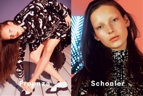 First Look: Julia Bergshoeff for Proenza Schouler Fall 2014 Campaign