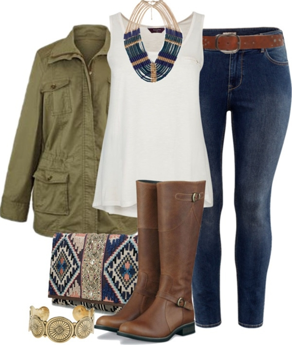 I love this casual look. I like an outfit with a white t-shirt, jeans, and a fun necklace