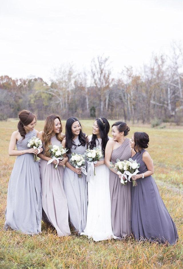 The bridesmaids dresses were windswept and perfectly pastel, matching the bride's simple, understated yet elegant Jenny Yoo gown. It was a wonderfully effortless wedding, shared amongst closest of closest friends and family.