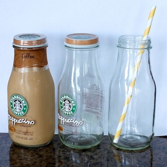 Glass milk bottles are expensive online!  I'm doing this for sure!!