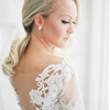 Spring Wedding with an Illusion Lace Gown
