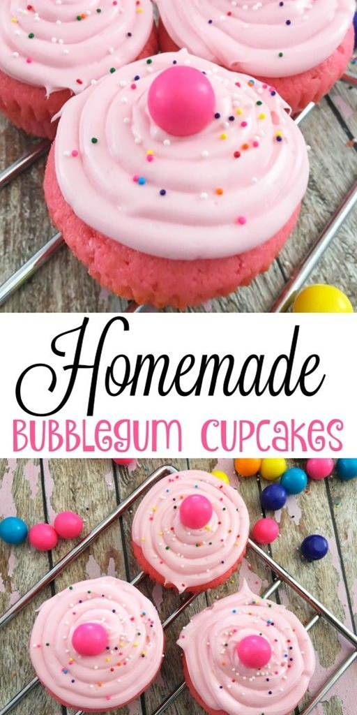 Homemade Bubblegum Cupcakes - A Spark of Creativity