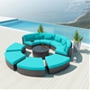 9-piece Round Outdoor Sectional Sofa Set - Modavi by Uduka