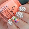I love these negative space chevrons with a cute floral accent