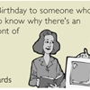 "Happy Birthday to someone who's too young to know why there's an ""e"" in front of ""ecard."""