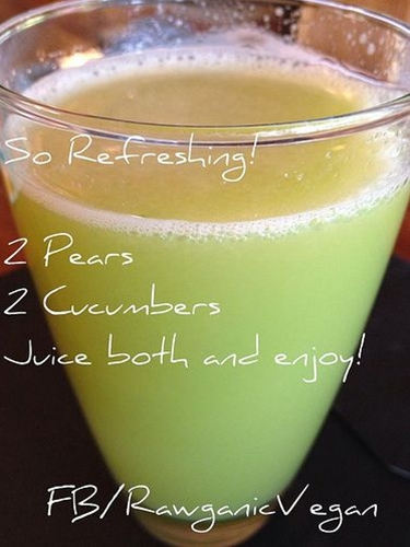 I love simple #Juice #recipes - Cucumber Pear Refresher #JuiceRecipe