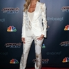 "Heidi Klum Wears White Roberto Cavalli Pantsuit at ""America's Got Talent"" Post Show Event"