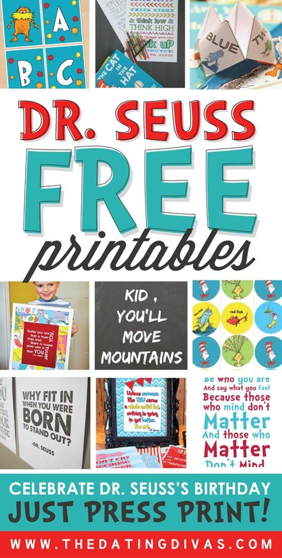 Dr. Seuss FREE Printables!