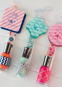 Cute DIY Nail Polish and File Sets