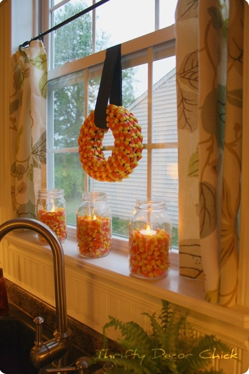 DIY candycorn decor for fall/Halloween... fun!